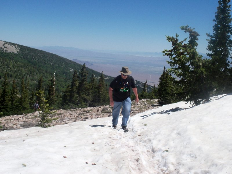 This was in late July. There is always snow somewhere on this mountain.