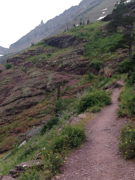 Climbing up the gradual walls of the Grinnell Glacier Trail.