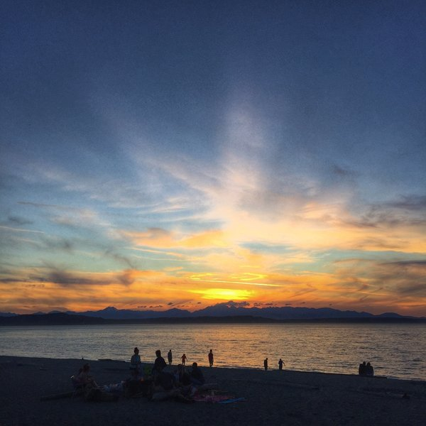 The sunsets from Alki Beach overlooking the Puget Sound and Olympic Mountains are near (if not, at) the top of my list.