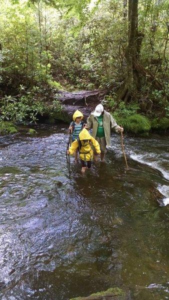 Creek crossing on Boogerman Trail.