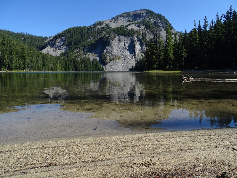 Indigo Lake with Sawtooth Mountain in the background.