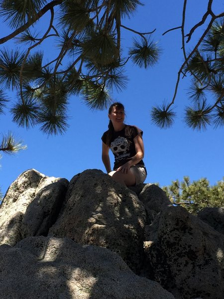 If you want to achieve Waterman Mountain's true summit, you'll have to get on top of the rocks.