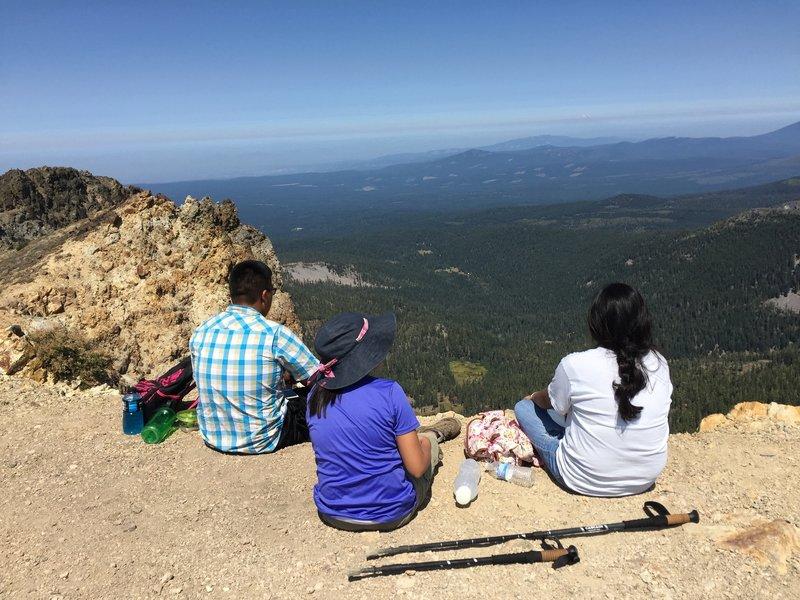 Brokeoff Mountain - enjoying the view.