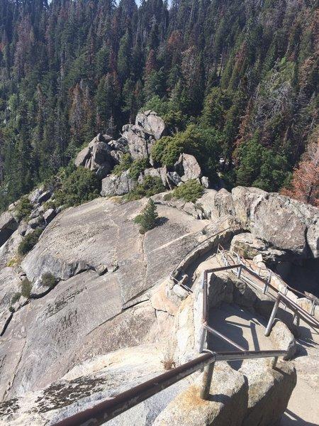 Descent at Moro Rock Trail.