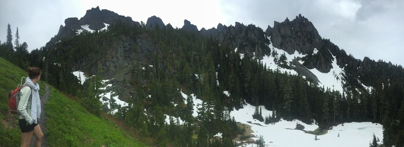 Looking east to the Sawtooth Ridge.