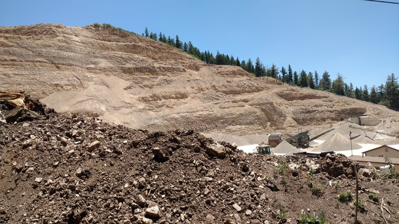 The active gravel pit on the south side of T124.