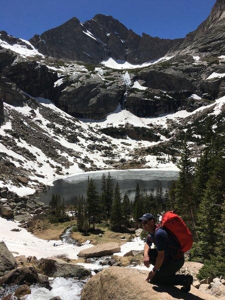 Waterfalls, high peaks, and blue skies!
