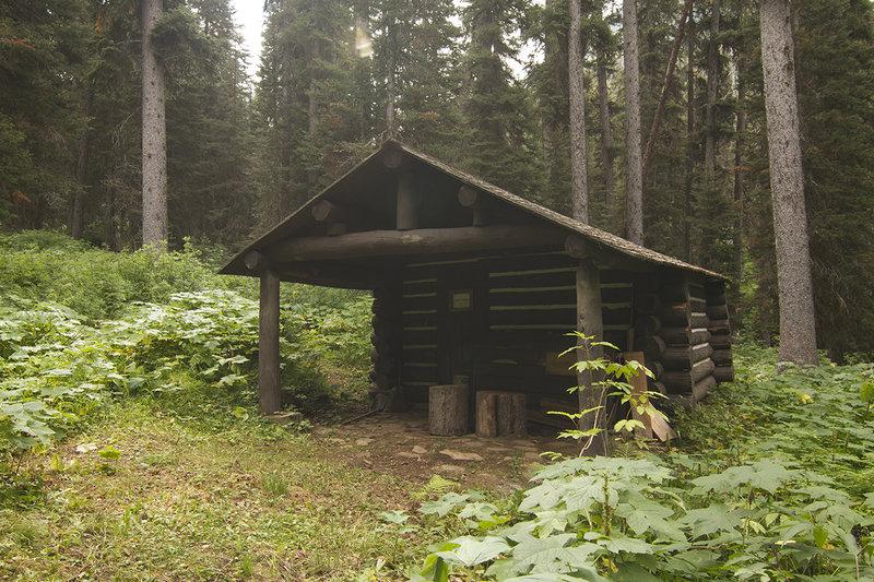 Kootenai Cabin at end of trail.