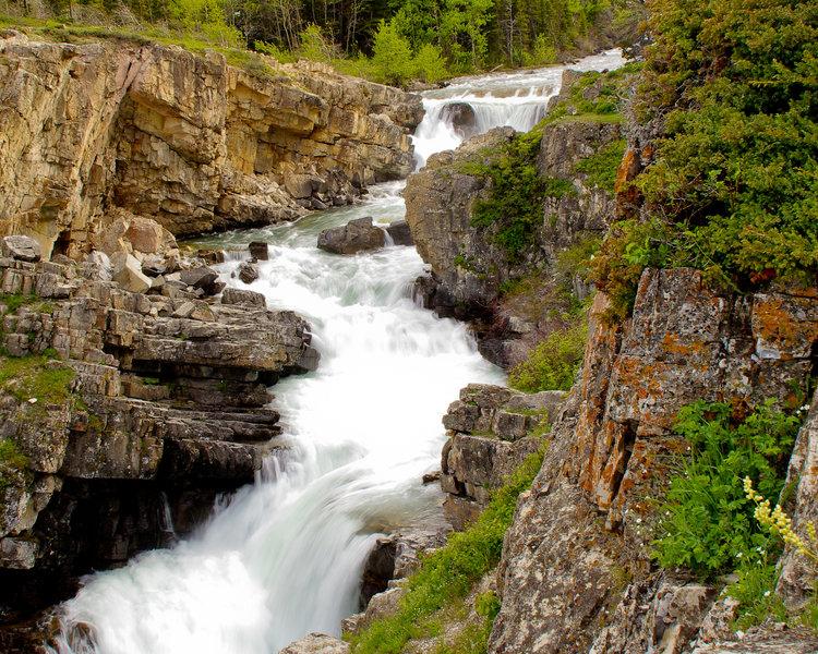Swiftcurrent Falls.