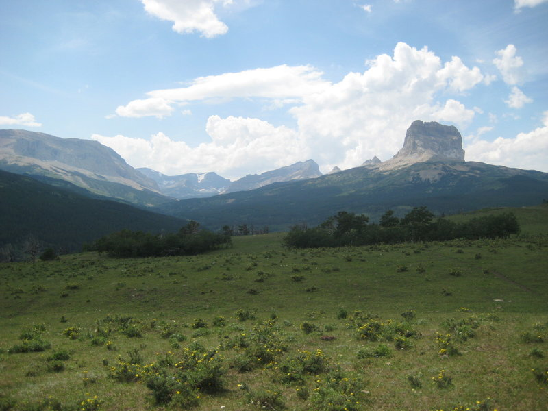 Chief Mountain from Otataso Creek Trail. with permission from Babbylonian