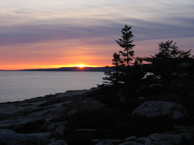Sunset from Schoodic Point. with permission from Laura Sebastianelli