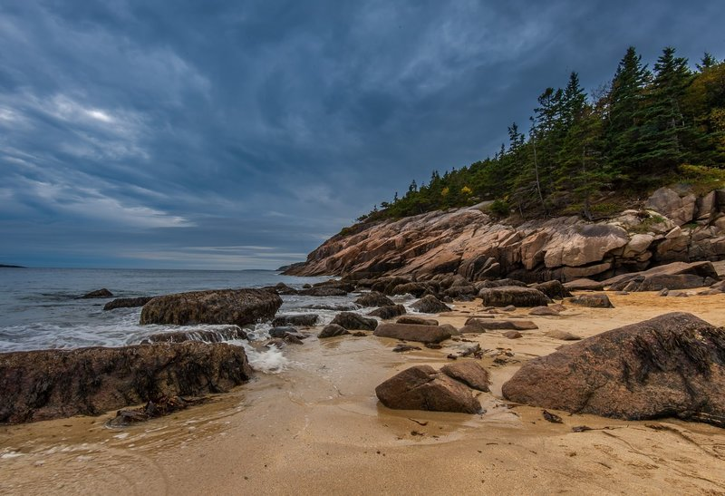 Sand Beach, Acadia National Park, ME. with permission from E Koh