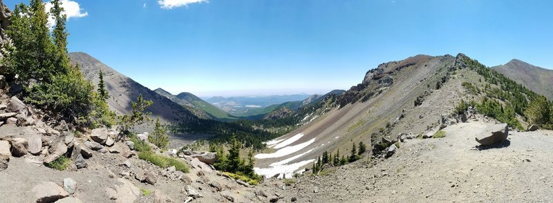 View from Humphrey's Peak Trail and Weatherford Trail intersection.