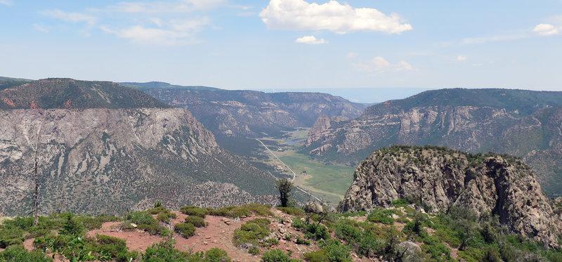 Looking north into Unaweep Canyon.