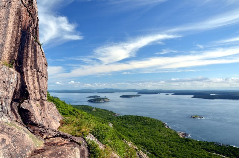 A view of Frenchman Bay from Champlain Mountain. with permission from Andrew Stehlik