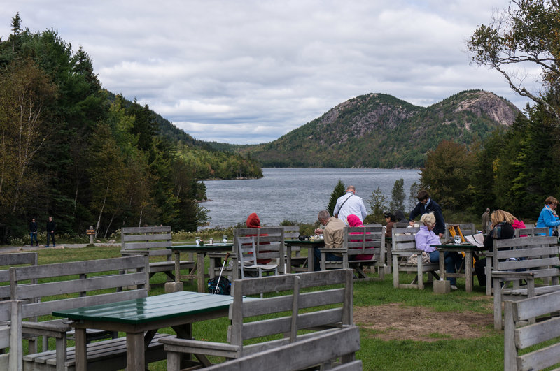 View from the Jordan Pond House lawn.