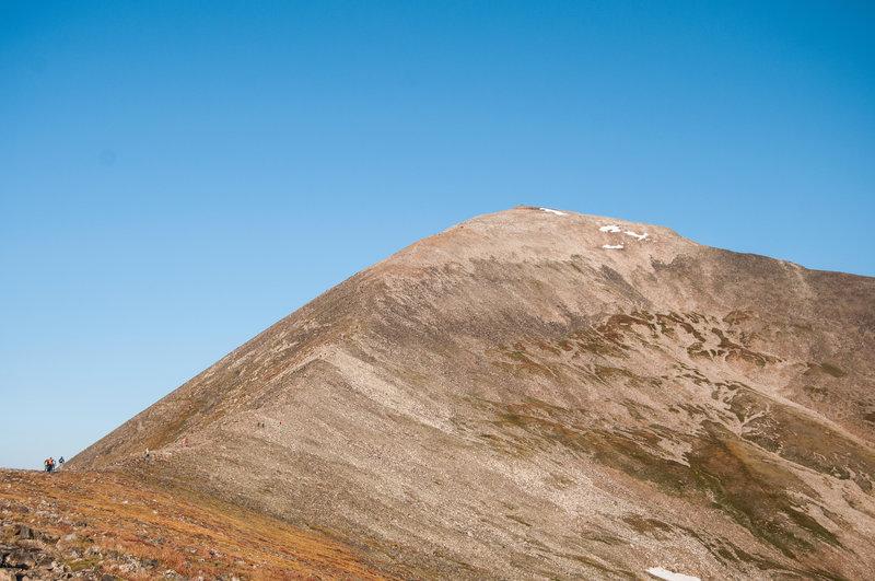 The last 1000 feet of elevation gain.