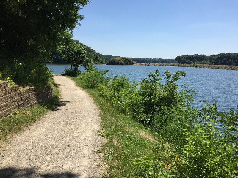 Southwest end of Lake MacBride from the Beach to Dam Trail.