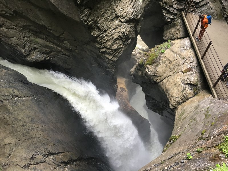 Another amazing view of one of the 10 Trummelbach Falls.