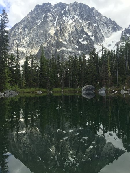 Reflecting on how awesome Dragontail Peak looks...