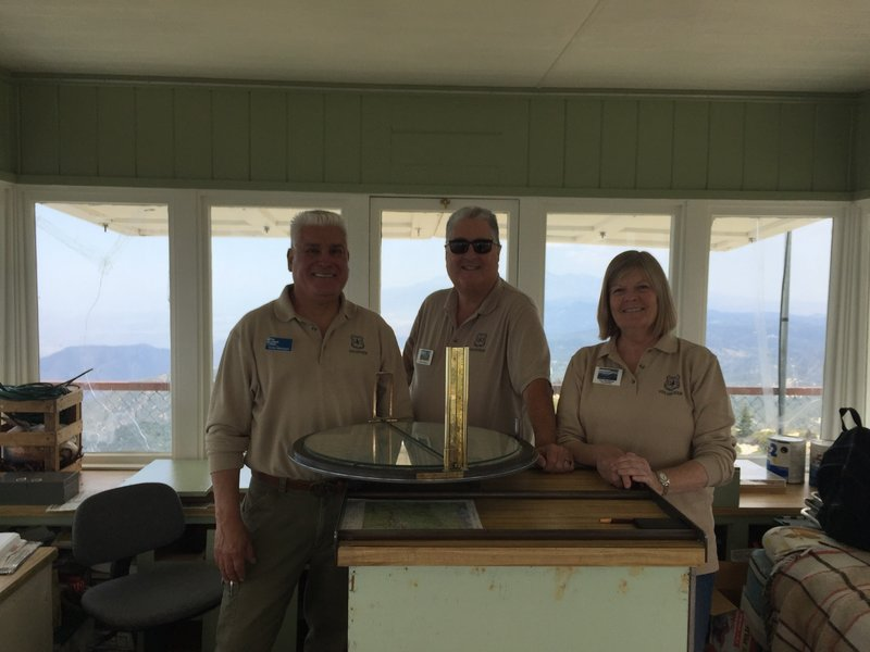 The friendly volunteers at Keller Peak Fire Lookout.