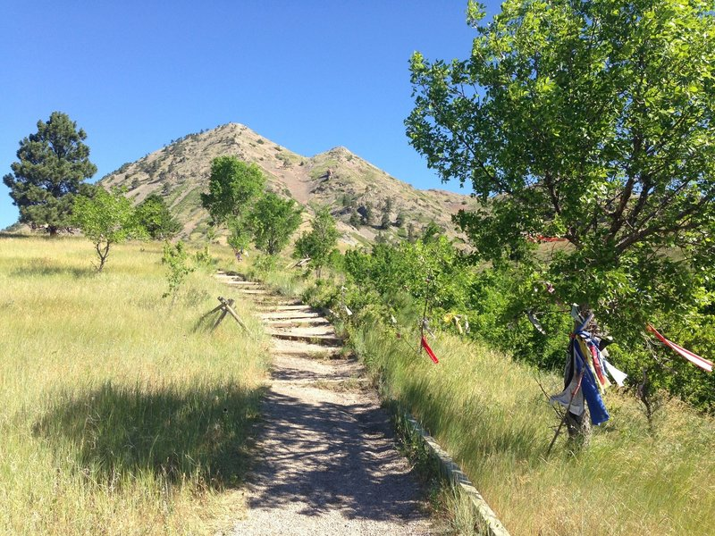 Starting up the Bear Butte Trail.
