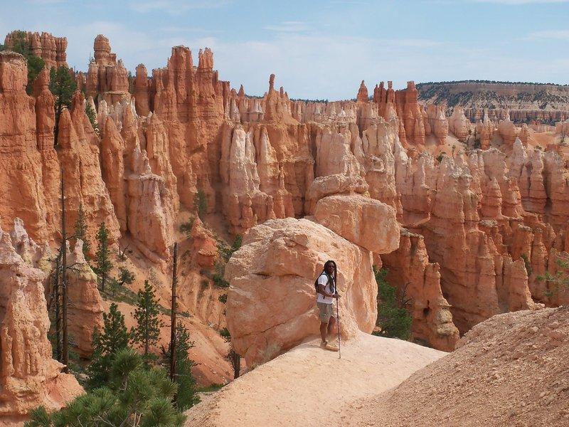 """Hike The Hoodoos"" on the Peekaboo Loop at Bryce Canyon NP."