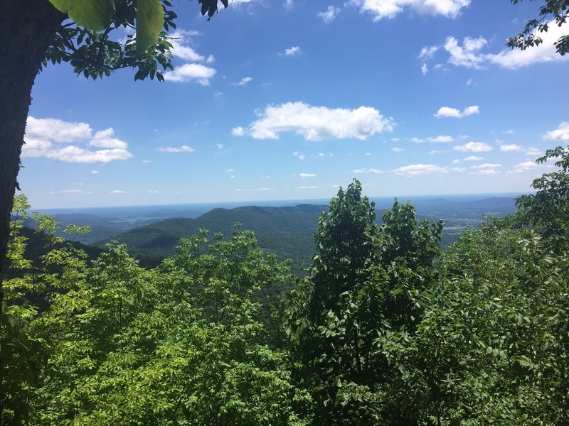 After making it to the top of Little Devils Staircase Trail we took the Keyser Run Road down and got to see this amazing view