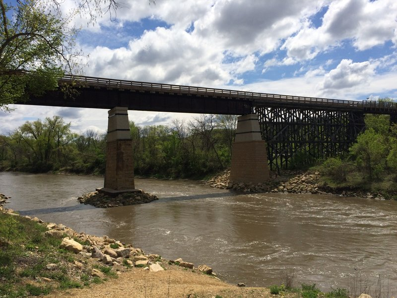 Red Jacket Trail Bridge.