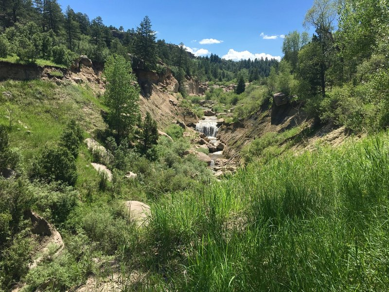 Castlewood Canyon waterfall.