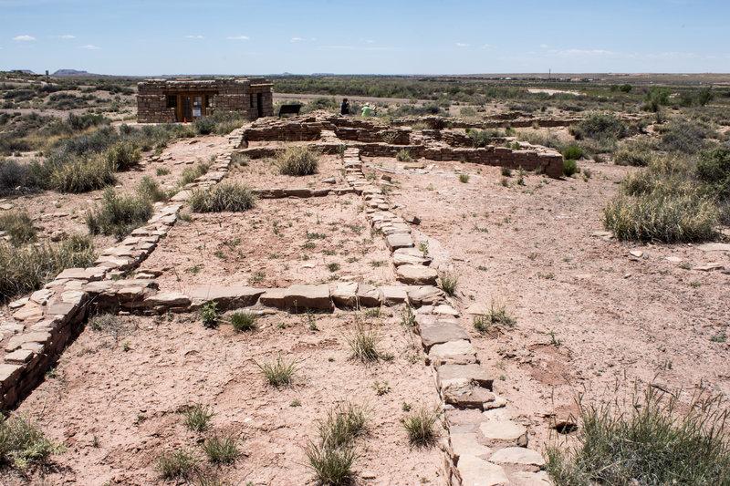 The remnants of Puerco Pueblo.