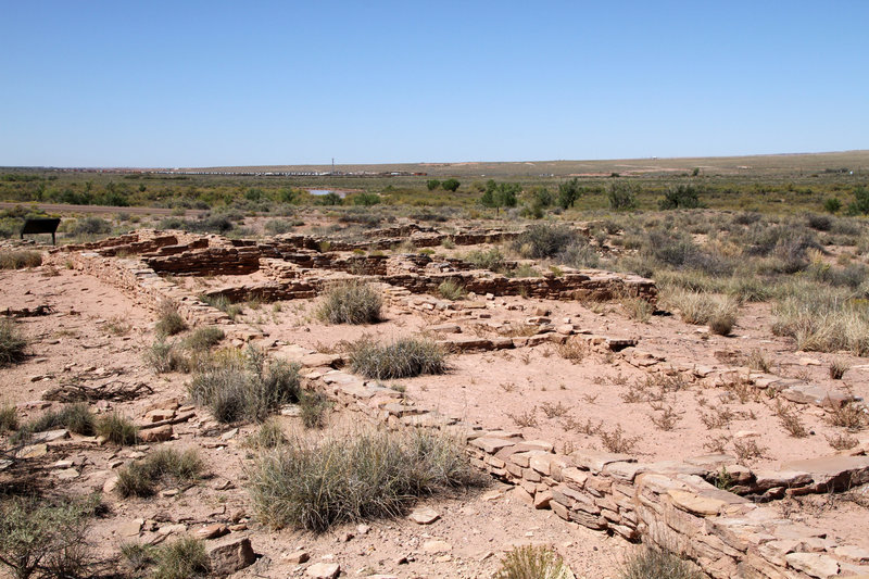 Remains of native buildings.