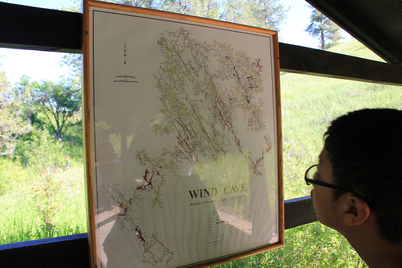 Labyrinth map of Wind Cave.