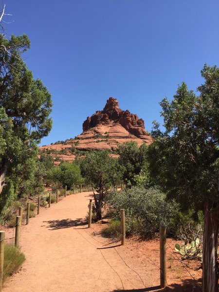 Bell Rock from the start of the trail.