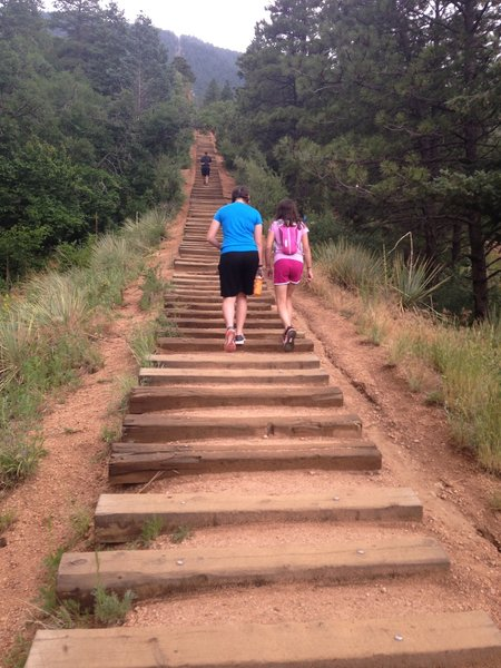 Just after the trailhead at the incline.