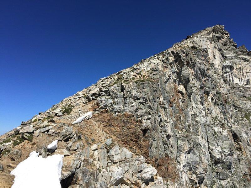 The peak.