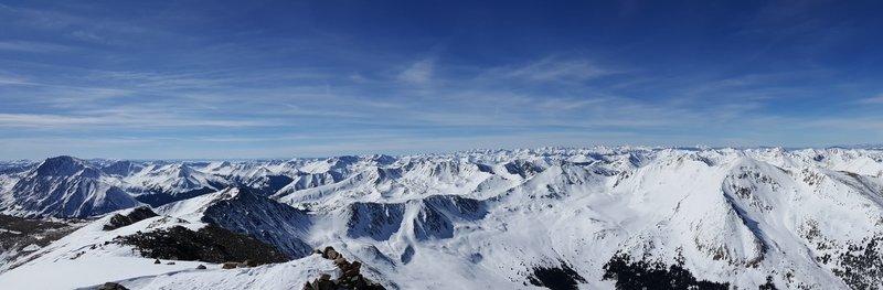 Panorama of summit.