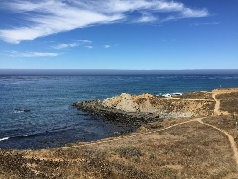 Ocean views, looking toward the panoramic vista point.