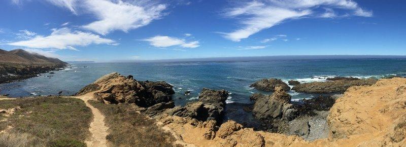 Panorama of Harmony Headlands Cove.