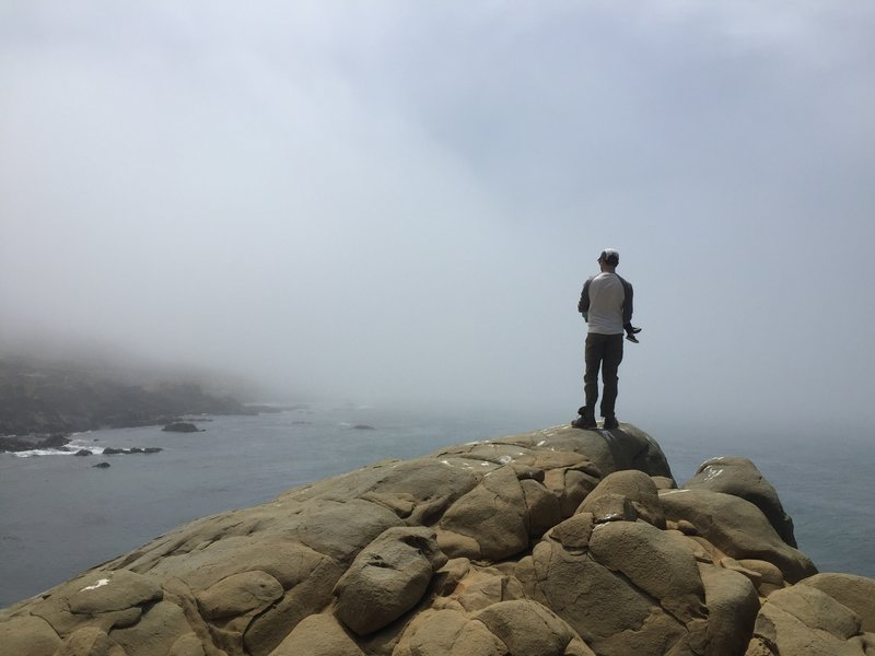 Looking out into the fog on Panorama Point.