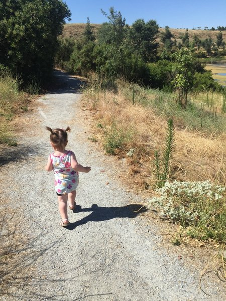 Running down the trail - such a great spot to bring kids!