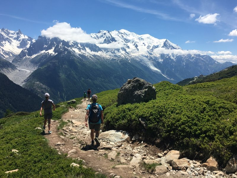 Endless view of Mont Blanc.