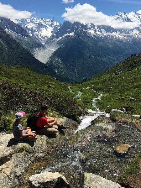 A lovely stream high above the Mer de Glace.
