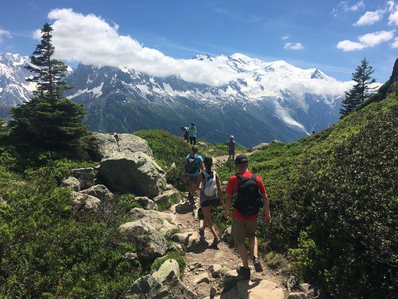 The Mont Blanc massif across the Chamonix valley.