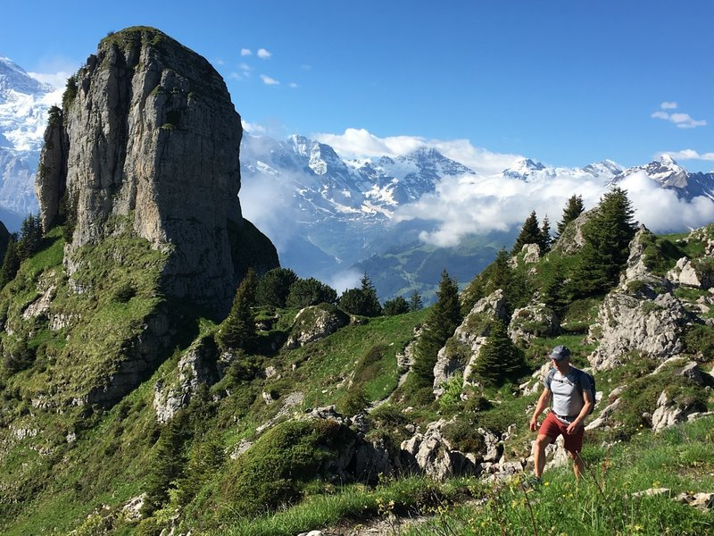 Incredible views at Shynige Platte.