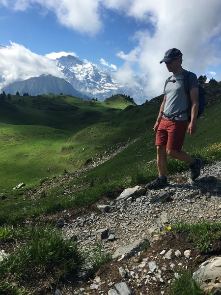 Some of the best Jungfrau views are from across the valley at Shynige Platte.