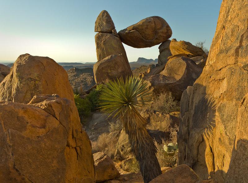 Big Bend's famous Balanced Rock.