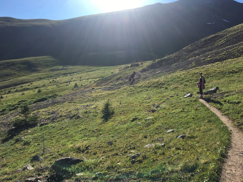 Colorado Trail leading to San Luis Peak south summit route.