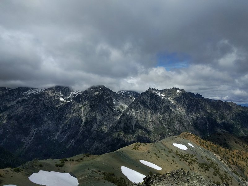 View of Mt. Stuart from the summit of Navaho Peak.