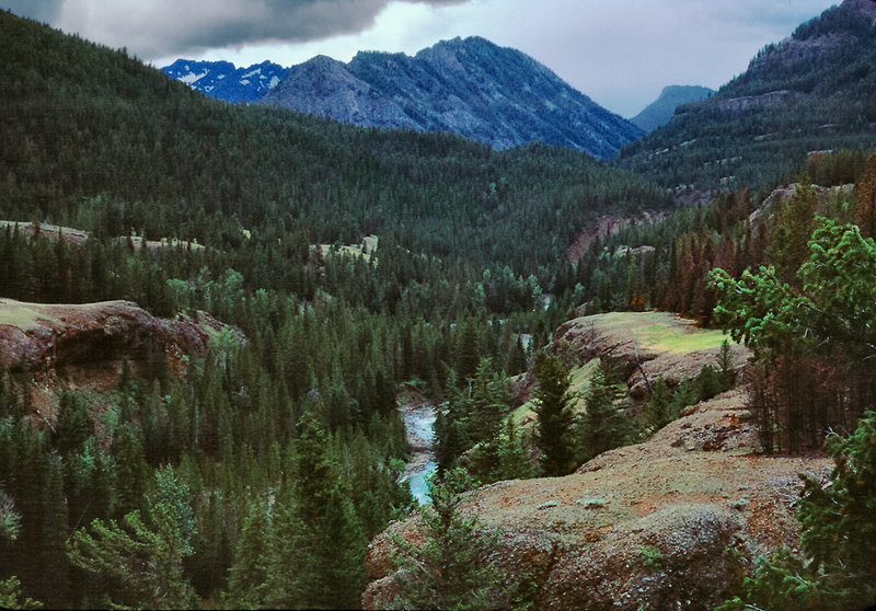 Upstream from a gorge beneath Eagle Creek Meadows with permission from Ralph Maughan